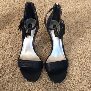 WHBM navy blue heels